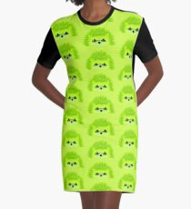 Vedgy, Broccoli Blades Graphic T-Shirt Dress