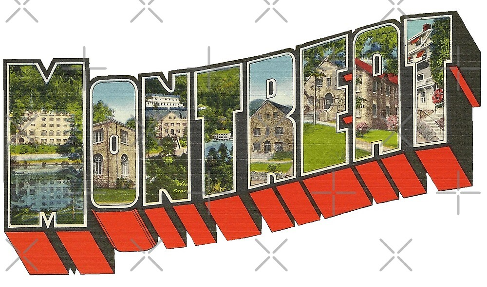 Big Letter Montreat North Carolina Vintage Postcard Reproduction by Colleen Cornelius