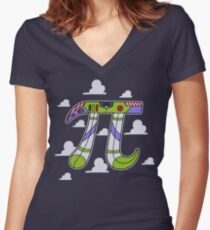 To Infinity Women's Fitted V-Neck T-Shirt