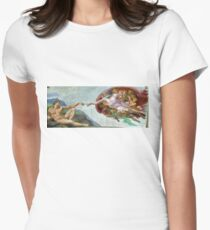 creation of adam  Women's Fitted T-Shirt
