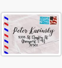 Peter Kavinsky's Letter Sticker