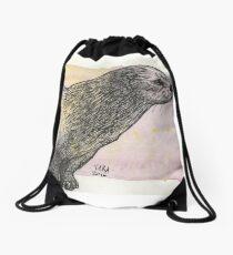River Otter Drawstring Bag