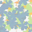 Primroses and orange flamingos by by-jwp