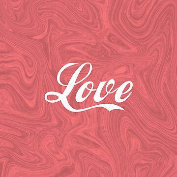 Love - Minimalist Print - Red by Shrijit