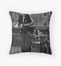 care in the community__the green cross code Throw Pillow