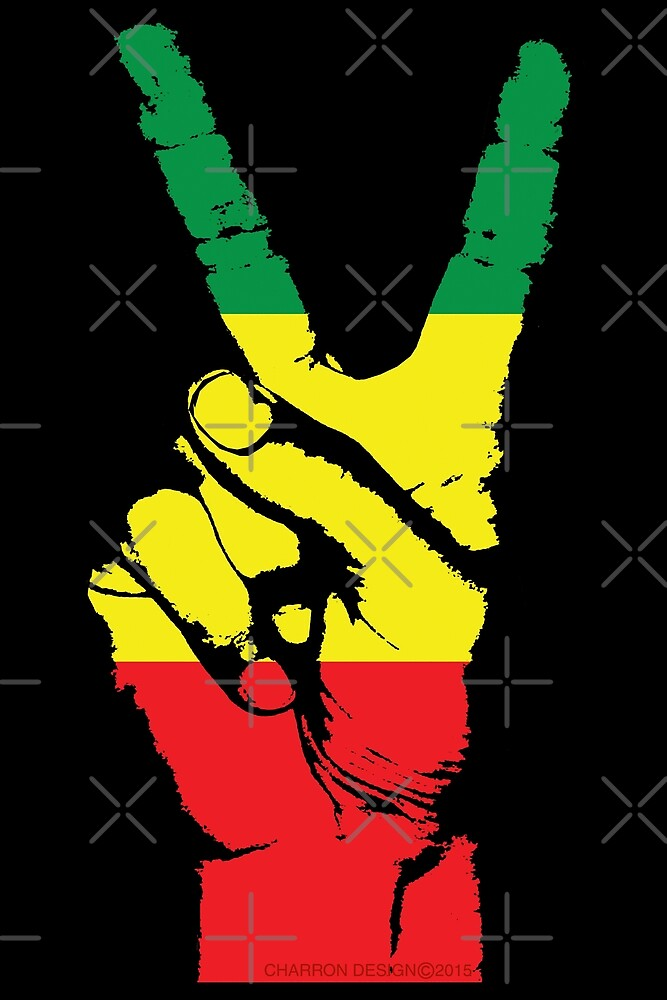 RASTA PEACE FINGERS-002 by stuph4kewlkidz