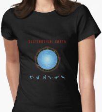 Destination Earth gate black background T-Shirt