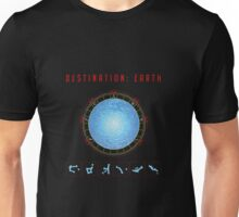 Destination Earth gate black background Unisex T-Shirt