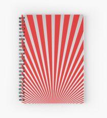 Red Japanisches Minimal Design Spiralblock