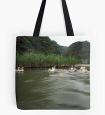 Ducks on the move Tote Bag