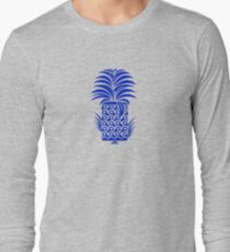 Indigo Tiki Pineapple Long Sleeve T-Shirt