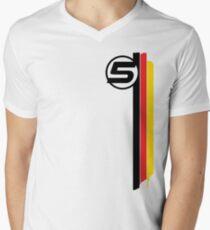 Vettel 5 - Helmet design Men's V-Neck T-Shirt