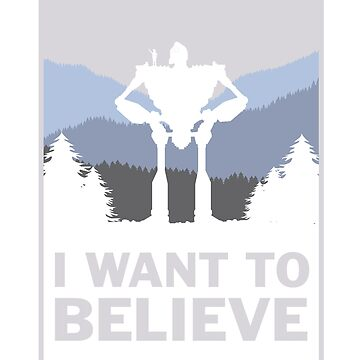 I want to believe in robots by Eilex-Design