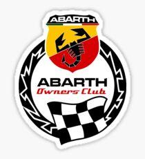 abarth owners club Sticker