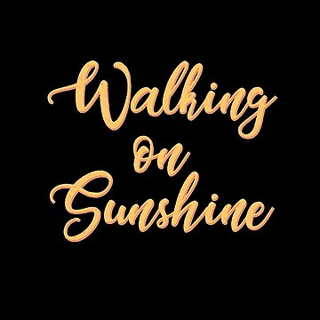 Walking on Sunshine - Minimalist Print by Shrijit
