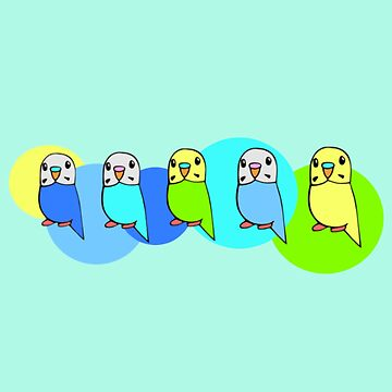 Cartoon Budgies by parakeetart