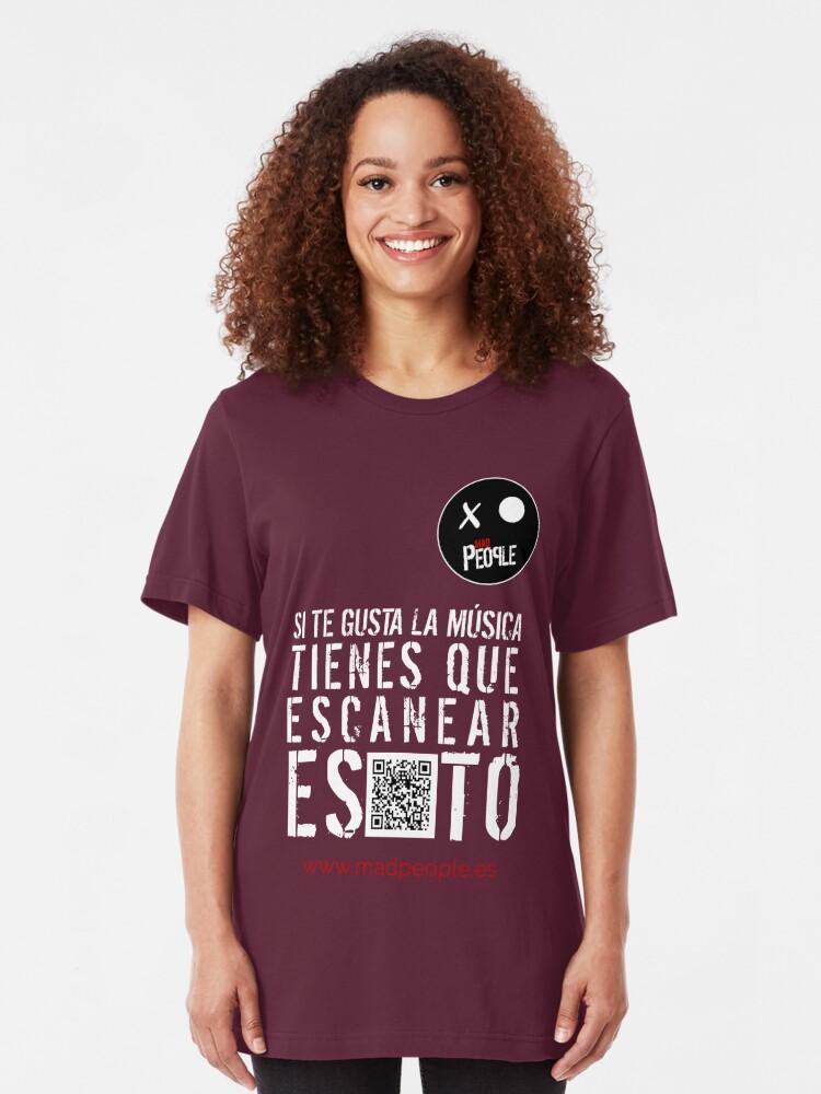 Vista alternativa de Camiseta ajustada Mad People - Si te gusta la música