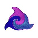 Delfine im Kreis Version 2 von Doris Thomas