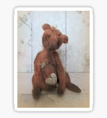 Vintage teddy bear Cornelius Sticker