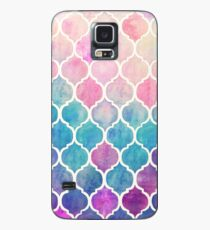 Funda/vinilo para Samsung Galaxy Rainbow Pastel Watercolor Marroquí Patrón