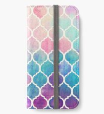 Rainbow Pastel Watercolor Moroccan Pattern iPhone Wallet/Case/Skin