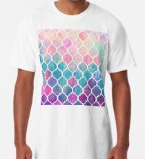 Regenbogen Pastell Aquarell marokkanischen Muster Longshirt