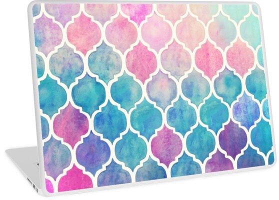 «Rainbow Pastel Watercolor Marroquí Patrón» de micklyn