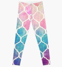 Rainbow Pastel aquarelle marocaine Leggings