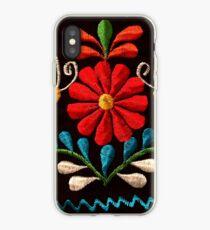 Schmetterlinge und eine rote Blume iPhone-Hülle & Cover