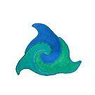 Delfine im Kreis Version 4 von Doris Thomas