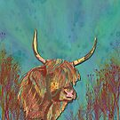 Highland Cow by lottibrown
