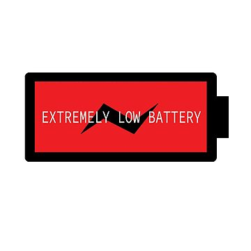 EXTREMELY LOW BATTERY by TMdraws