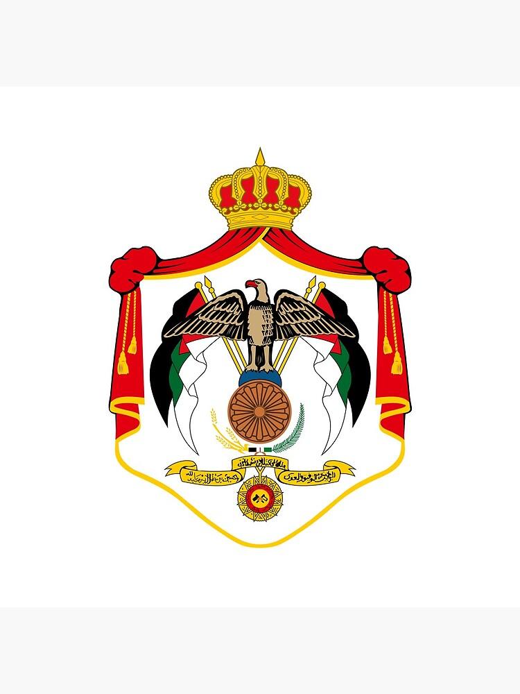 Wappen von Jordanien von fourretout