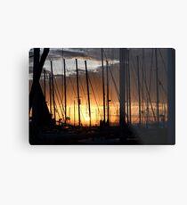 Kalamaki sunset Metal Print