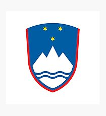 Coat of arms of Slovenia Photographic Print