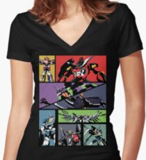 Super Robots Women's Fitted V-Neck T-Shirt