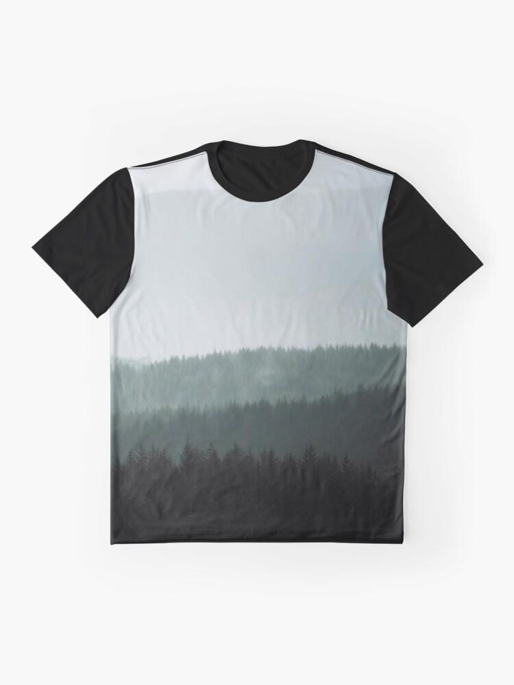 T-shirt graphique ''Brume dans les highlands écossaises': autre vue