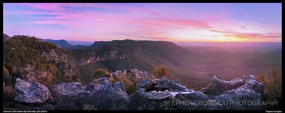 Narrow is the road to life and only a few find it by STEPHEN GEORGIOU PHOTOGRAPHY