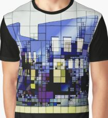 abstract urban city architecture buildings Graphic T-Shirt