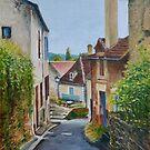 Wheelbarrow in Limeuil, France by Dai Wynn
