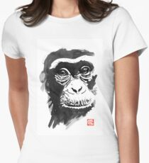 chimpanze Women's Fitted T-Shirt