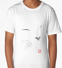 white cat Long T-Shirt