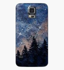 Pine trees and galaxies watercolor painting by Bazil Zerinsky Case/Skin for Samsung Galaxy