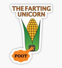 The Farting Unicorn - Tesla safe Sticker