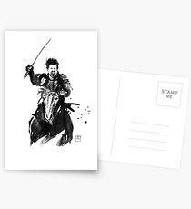 the last samurai riding Postcards