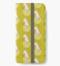 Nilpferd, Flusspferd - grün gemustert iPhone Flip-Case/Hülle/Klebefolie