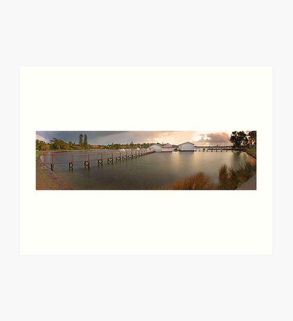 Mosman Bay Boatsheds - Western Australia  Art Print