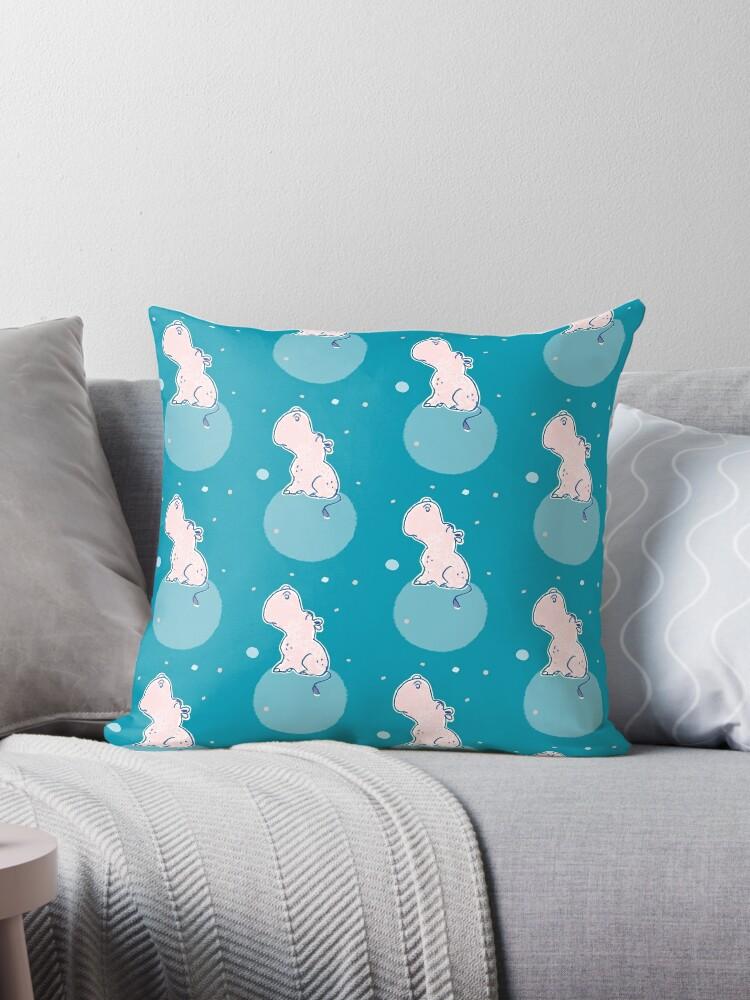 Nilpferd, Flusspferd - blau gemustert von Judith Ganter
