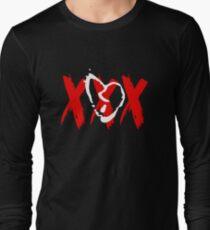 White Broken Heart XXX Long Sleeve T-Shirt