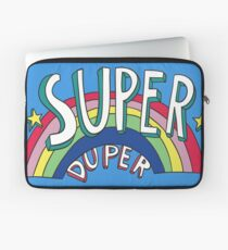 Super Duper Hand Drawn Seventies Style Rainbow Graphic Laptop Sleeve